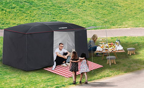 La tenda per auto multifunzione Lanmodo è come un Transformer