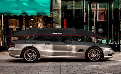La copertura auto Lanmodo offre una protezione costante in tutte le stagioni