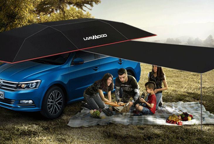 tenda per auto da usare all'aperto
